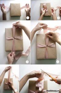 обвязкой коробки лентой