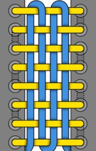 33. Схема шнуровки шахматная доска
