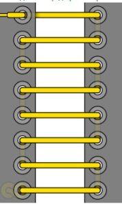 57. Схема шнурвоки Командос