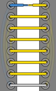 75. Укорачивающая шнуровка схема