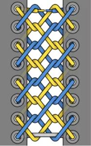 Тканная шнуровка схема