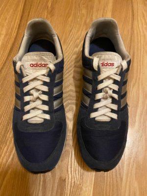 Узловая шнуровка синие кроссовки