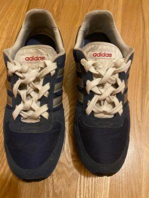 Тканная шнуровка синие кроссовки